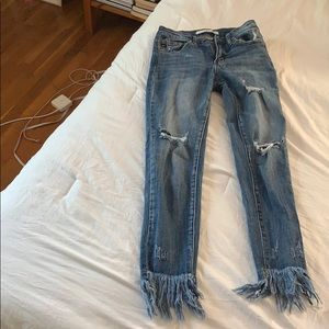 Jeans with Frill at the end